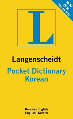 Langenscheidt Pocket Dictionary: Korean 9783468981371