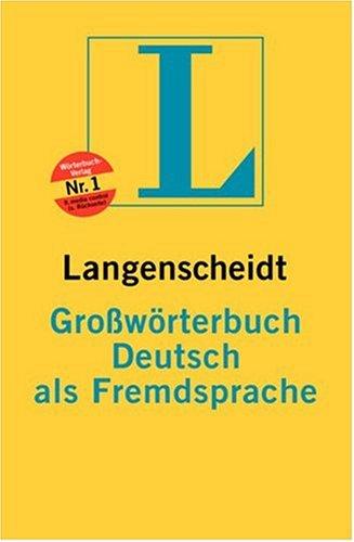 Groborterbuch Deutsch ALS Fremdsprache