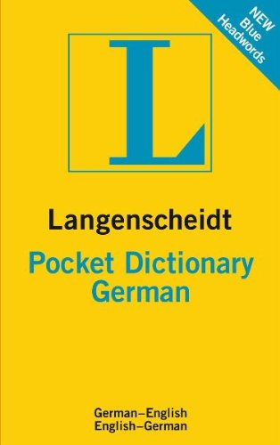 Langenscheidt Pocket Dictionary: German 9783468981357