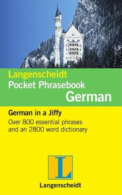 Langenscheidt Pocket Phrasebook: German: German in a Jiffy 9783468989438