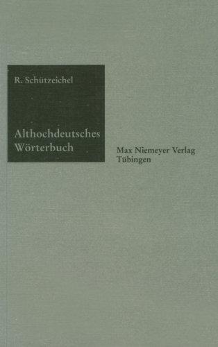 Althochdeutsches Worterbuch 9783484640313