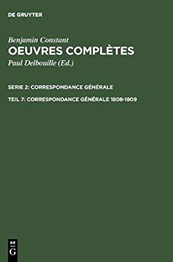 Correspondance G N Rale 1808 1809 9783484504578