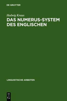 Das Numerus-System Des Englischen 9783484102729