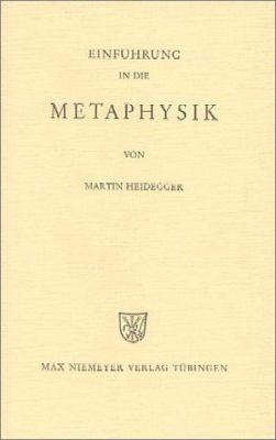 Einfuhrung In die Metaphysik 9783484700321