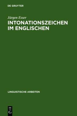 Intonationszeichen Im Englischen 9783484102385