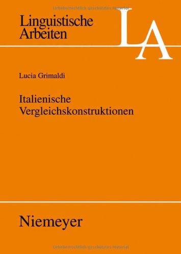 Italienische Vergleichskonstruktionen 9783484305298