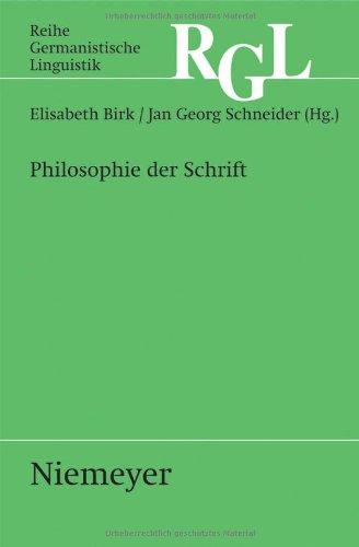 Philosophie Der Schrift 9783484312852