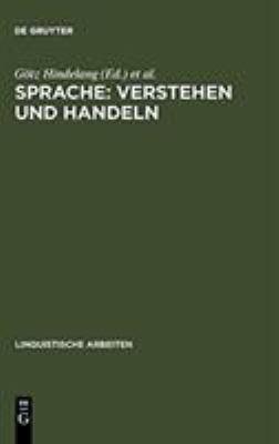Sprache, Verstehen Und Handeln 9783484300996