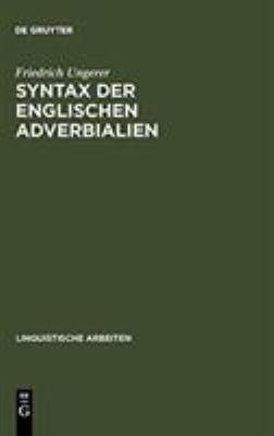 Syntax Der Englischen Adverbialien 9783484302150
