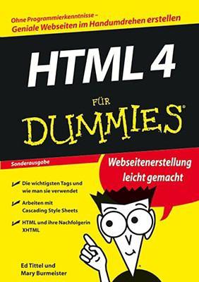 HTML 4 fur Dummies 9783527704989