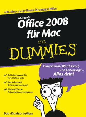 Office 2008 Fur Mac Fur Dummies 9783527705115