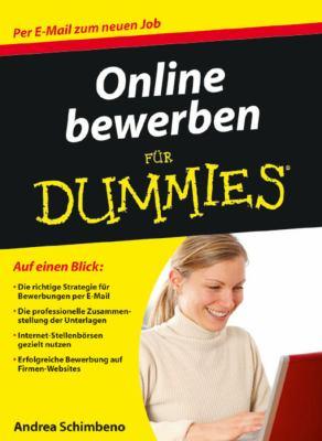 Online Bewerben Fur Dummies 9783527705399