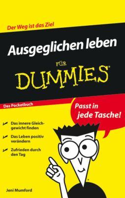 Ausgeglichen Leben Fur Dummies Das Pocketbuch
