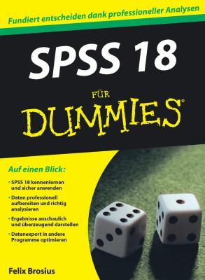 SPSS 18 Fur Dummies 9783527705962