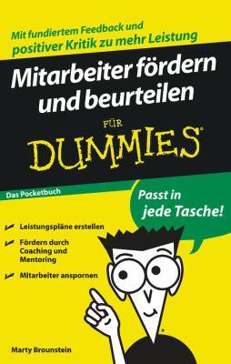 Mitarbeiter Fordern Und Beurteilen Fur Dummies Das Pocketbuch 9783527706075