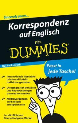 Korrespondenz Auf Englisch Fur Dummies Das Pocketbuch 9783527707171