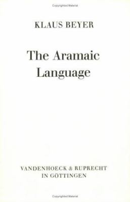 The Aramaic Language: Its Distribution and Subdivisions