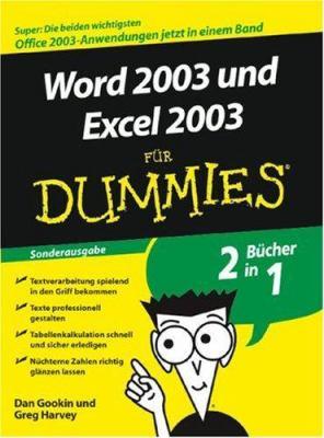 Word 2003 Und Excel 2003 fur Dummies: Sonderausgabe 9783527703111