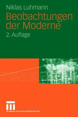 Beobachtungen Der Moderne 9783531322636