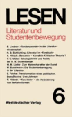 Literatur Und Studentenbewegung: Eine Zwischenbilanz 9783531114095