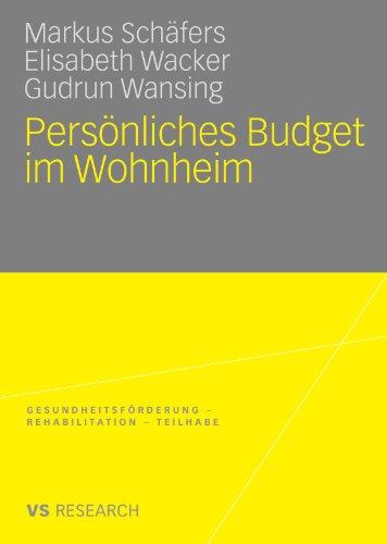 Pers Nliches Budget Im Wohnheim 9783531169262