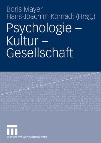 Psychologie - Kultur - Gesellschaft 9783531166964