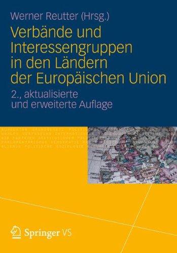 Verb Nde Und Interessengruppen in Den L Ndern Der Europ Ischen Union 9783531191829