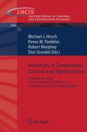 Advances in Cooperative Control and Optimization: Proceedings of the 7th International Conference on Cooperative Control and Optim 7974662