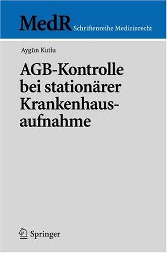 Agb-Kontrolle Bei Station Rer Krankenhausaufnahme 9783540328865