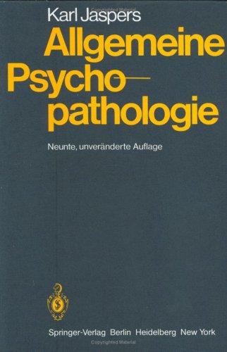 Allgemeine Psychopathologie 9783540033400
