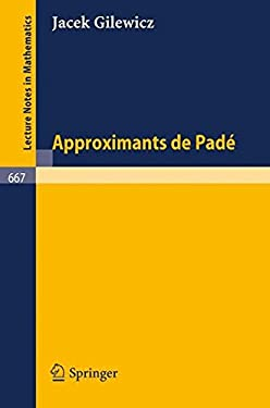 Approximants de Pade 9783540089247
