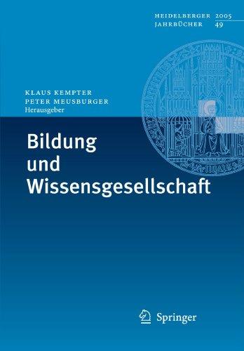 Bildung Und Wissensgesellschaft 9783540295167