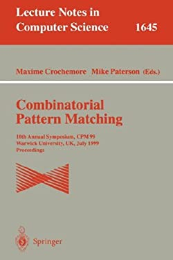 Combinatorial Pattern Matching: Fifth Annual Symposium, CPM '94, Asilomar, CA, USA, June 5 - 8, 1994. Proceedings 9783540580942