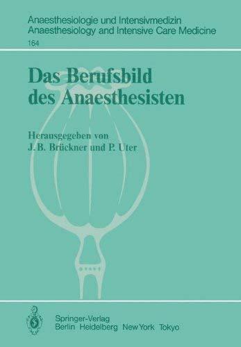Das Berufsbild Des Anaesthesisten