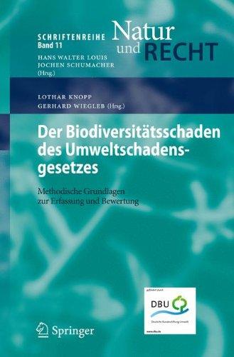 Der Biodiversit Tsschaden Des Umweltschadensgesetzes: Methodische Grundlagen Zur Erfassung Und Bewertung 9783540921974