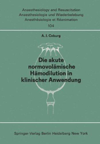 Die Akute Normo Vol Mische H Modilution in Klinischer Anwendung 9783540080251