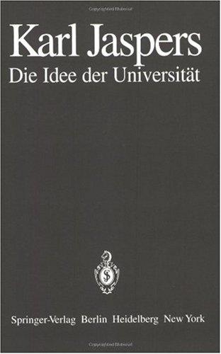 Die Idee Der Universitat 9783540100713