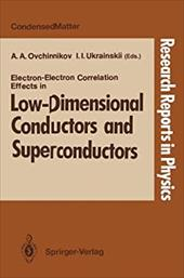 Electron-Electron Correlation Effects in Low-Dimensional Conductors and Superconductors 13154110