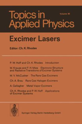 Excimer Lasers 9783540090175