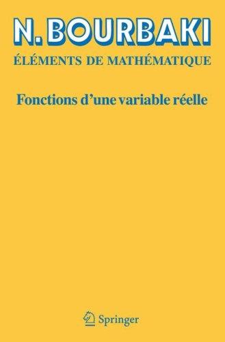 Fonctions D'Une Variable R Elle: Th Orie L Mentaire 9783540340362