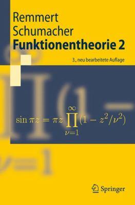 Funktionentheorie 2 9783540404323