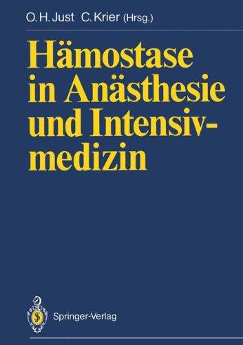 H Mostase in an Sthesie Und Intensivmedizin 9783540502975