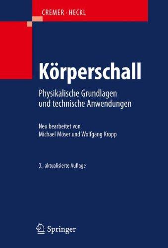 K Rperschall: Physikalische Grundlagen Und Technische Anwendungen 9783540403364