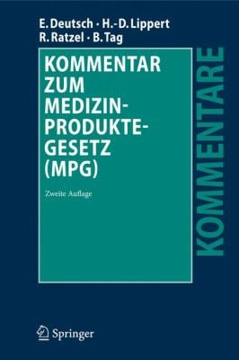 Kommentar Zum Medizinproduktegesetz (MPG) 9783540894506