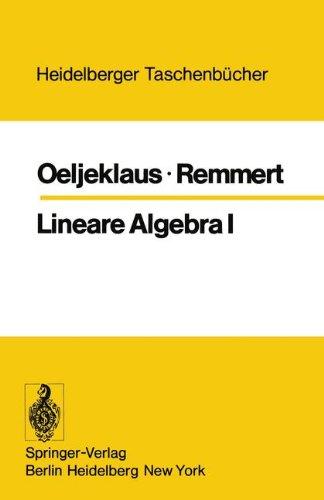 Lineare Algebra I 9783540067153