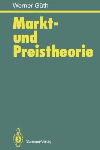 Markt- Und Preistheorie 9783540583240