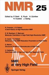 NMR at Very High Field - Bastiaan, E. W. / Canet, D. / Freeman, R.