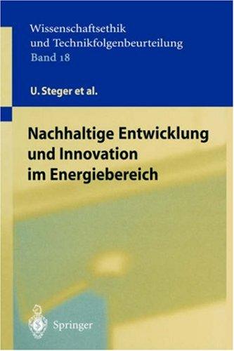 Nachhaltige Entwicklung Und Innovation Im Energiebereich 9783540442950