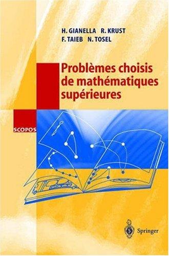 Probl Mes Choisis de Math Matiques Sup Rieures 9783540423355