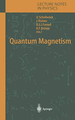 Quantum Magnetism 9783540214229